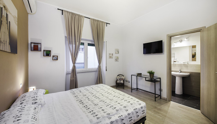 camera 1 marrone, soggiorno bed and breakfast roma